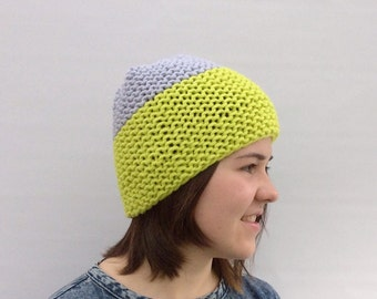 Womens Winter Hat, Chunky Wool Beanie,  Funky Colour Beanie, Winter Hat for Women