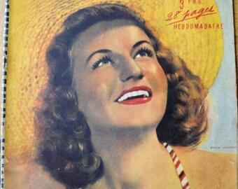 Vintage French 1941 magazine Notre Coeur