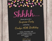 Confetti- A Party Invitation, Personalized and Printable, 5x7