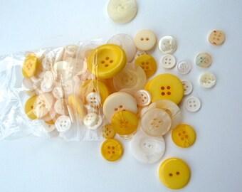 Yellow 50g Button Bag