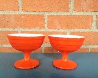 Orange or yellow dessert cups