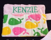 Whale Personalized Crayon Holder Crayon Roll Great for Gifts Flower Girl Ring Bearer Stocking Stuffer