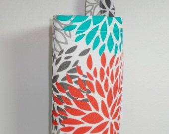 Plastic Bag Holder Grocery Bag Holder Storage Kitchen Bag Storage Teal Orange Mum