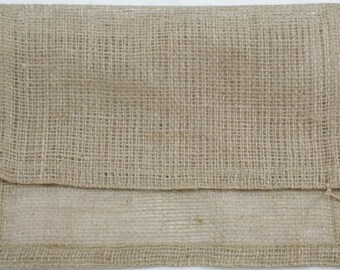 6 Burlap placemats with fold and sew edges - natural burlap fabric placemats -outdoor party table decorations - wedding rustic burlap JH-P12