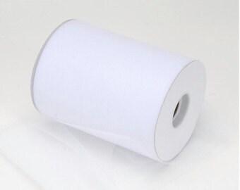 "White Tulle Ribbon 3 in. x 10 yard  spool of 3"" width white tulle mesh fabric ribbon trim sewing tulle wedding tulle decor tutu mesh ribbon"