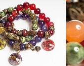 Natural stones bracelets.