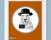 """Mr. White Breaking Bad Lion Wall Decal Sticker (Circle) """"Say My Name!"""" by Balázs Solti"""