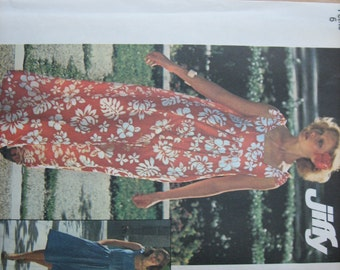 Simplicity Pattern 7520 Misses' Jiffy Dress in Two Lengths and Bag   1976   Uncut