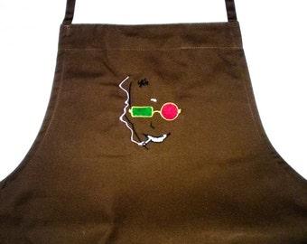 Spider Jerusalem embroidered apron