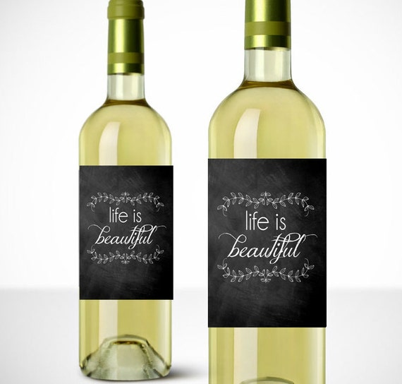 Instant wine labels