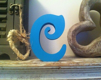 Hand-painted Wooden Letter C - Freestanding - Victorian Font - Various sizes, finishes and colours