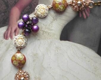 Vintage Victorian Purple Passion Earring Bracelet