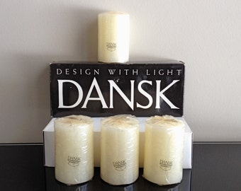 Dansk Design With Light White Box of 2 x 2 3/4 Pillar Candles Style 01843