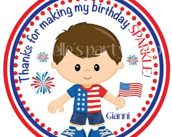 NEW - PRINTABLE, 4th of July Favor Tags