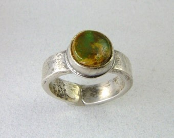Adjustable VERDE CERRILLOS MINE Turquoise Ring direct from New Mexico Turquoise MIner