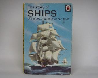 Ladybird Book Notebook - Ships handmade notebook