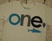 Shark Birthday shirt Customize colors lime turquoise orange aquarium party fish