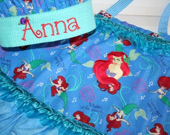 Add on Ariel Little Mermaid Iron On Applique for Apron or 2 Piece Ariel Outfit