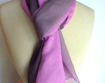 Lightweight Purple Ombre scarf.  Perfect accessory for any season