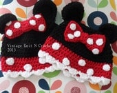 Instant Download  VKNC296 Minnie Mouse  Hat Crochet pattern  baby girls character hat Christmas present Instant download
