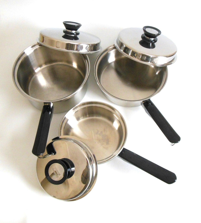 Amway Queen Cookware Set 1 Qt 3 Quart Saucepan By