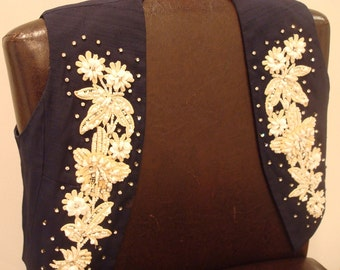Nudie style rhinestone vest