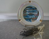 Vintage Niagara Falls Canada Souvenir Ash Tray Porcelain Large Hand Painted ESD Japan Lusterware