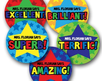 SUPER STARRY Personalized stickers for Teachers