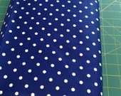 "Custom for Maya-02991  - David Textiles  - Small polka dots in navy  - last 33"" short yard-See below:"