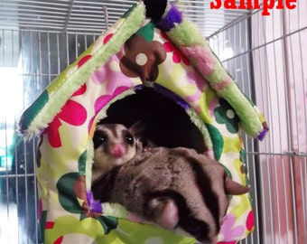 """CUTE 5.5"""" Sugar Glider-Rat Hanging HOUSE TENT and 2 Metal hooks washable"""