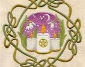 Celtic Wheel of the Year - Imbolc Embroidered Flour Sack Hand/Dish Towel