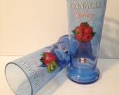 Pinnacle Kiwi Strawberry & Raspberry Vodka Recycled Bottle Glasses - Set of 2