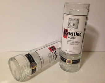 Ketel One Vodka Recycled Bottle Glasses - Set of 2
