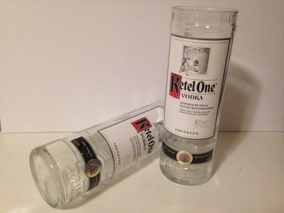 Ketel One Vodka Recycled Bottle Glasses - Set of 2