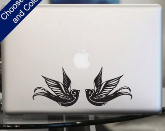 Vintage Sparrow Decal - Sticker for Laptop, Car