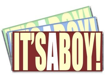 It's A Boy Baby Shower Personalized Candy Bar Wrappers