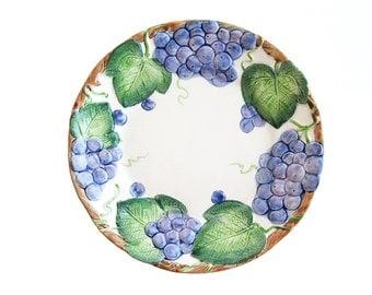 Fitz and Floyd Grape Arbor Salad Plate