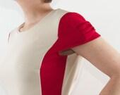 Red retro dress,red A line dress,red day dress,red party dress,red mini dress,red dress,red vintage dress,red elegant dress,sizes: M-XL