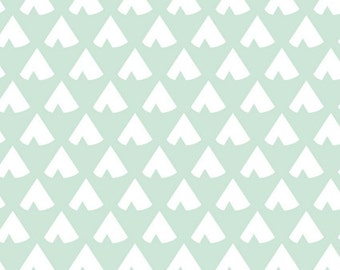 Teepee Crib Bumpers - Mint Teepee Crib Bumpers - Crib Bedding - Teepee Crib Bedding