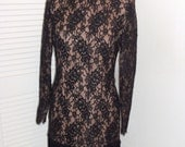 Vintage Lace Sheer Barbara Katz Dress Sz S-M