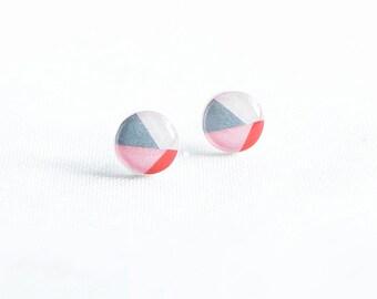 Geometric studs earrings Minimalist jewelry surgical steel post earrings cute modern stud earrings boucles d'oreilles stylish jewelry