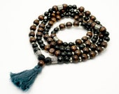 Pay What You Can - Dark Wood Mala Beads - Mala Necklace - Yoga Jewelry