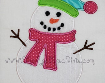 Winter Snowman Embroidery Design Machine Applique