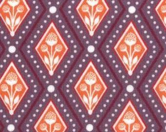 SALE - Birds Berry - Diamond Plants Purple by Lauren Jessi Jung from Moda
