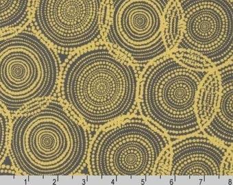 SALE - Quill - Circles Ochre by Valori Wells from Robert Kaufman