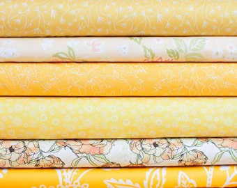 Yellow Sunshine Bundle -  Half Yard Bundle - 6 half yard pieces (B284)