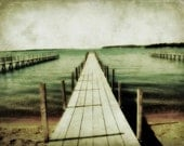 Okoboji Iowa / Dock Picture / Beach Art Print / Arnolds Park / Cottage Chic Art / Teal / Green / Fine Art