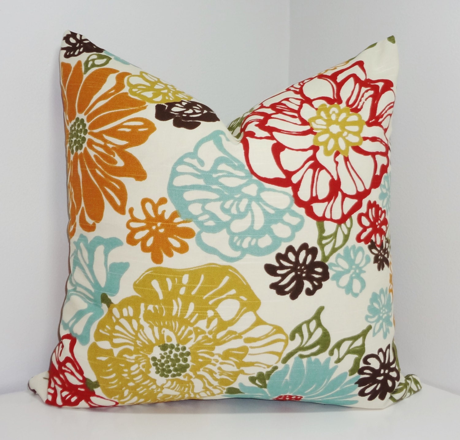 Large Flower Throw Pillow : Decorative Pillow Richloom Invigorate Confetti Large Floral