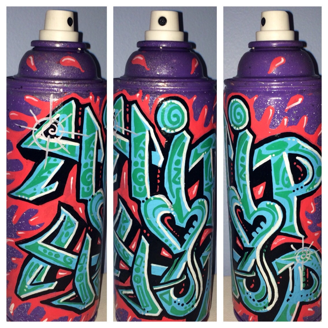 Graffiti Hip Hop Spray Paint Can Recycled By Shananagansnthings