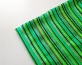Apple Green Mexican Fabric -  Aztec Stripe Pattern -  Cambaya - One Yard Tribal